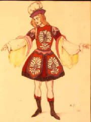 'Young Marquis' Costume design by Michel Fokine, for a solo by Vitale Fokine-1929